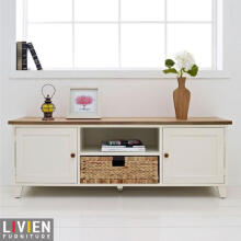 LIVIEN Furniture Lemari Rak TV Dresser - Maple Story - Cokelat Muda