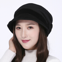 Zanzea 0051Womens Vogue Warm Earmuffs Beret Caps Outdoor Travel Double Layers Flat Hat Beige