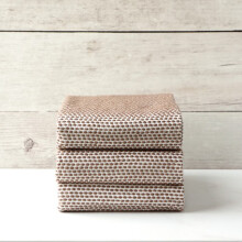 Palmerhaus Knitted Napkin  49 x 49 cm Set Of 3 - Brown
