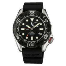 Orient M-Force Aire Diver Power Automatic Black Dial Black Rubber Strap [SEL03004B]