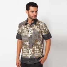 A&D MS 729A Batik Men Short Sleeve - Brown