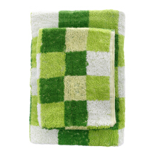 LENUTA Kimmie Handuk Mandi Elblock 333 gsm/m2 Set of 2- Green Large and Small Size