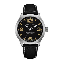 NAUTICA Watch BFD 102 Box Set Black/Brown [NAI13537G]