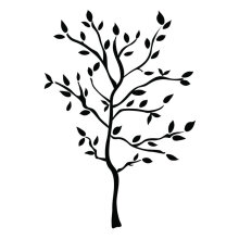 [kingstore]Unique 157*119cm Tree Branches PVC Wall Sticker Home Decals Decor Accessory Black Black