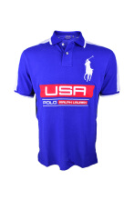 POLO RALPH LAUREN - Custom-Fit Lacoste Polo Shirt Navy-White Men