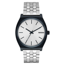 NIXON Time Teller Silver Dial Black Stainless Steel Strap Watch [A0451849]