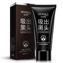 Bioaqua Carbon Active Charcoal Black Mask / Masker Pengangkat Komedo Original - 60gr Black