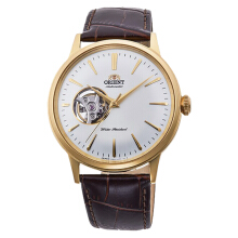 Orient Classic Automatic Men White Skeleton Dial Brown Leather Strap [RA-AG0003S]