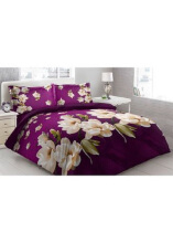 Sprei Bantal 2 Vito Disperse 180x200cm Jasmine Flower - Purple