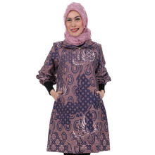 SHE BATIK Dress Batik Cap Tulis Pias Lawasan - Purple