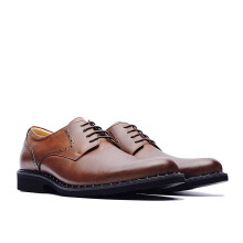 LIFE 8 Lightweight Aniline Leather Business Derby Shoes - Brown