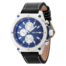 Police Blue dial Black Leather Strap [PL.14537JS/03A]