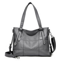 BESSKY Woman Tote Casual Bags Female Bag Women Leather Handbag Shoulder Bag _