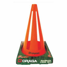 Alat Latihan Sepak Bola - Space Marker Collapsible Cones Oraga 9 Inch Set Of 12 Orange