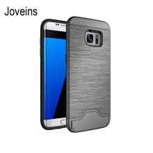 Joveins Samsung S7 edge Case Shockproof of Heavy Duty Full Protective Cover with Kickstand Dual Layer Wallet