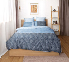 ESPRIT Sprei Set King - Tamo Blue  / 180x200x36cm