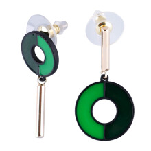 VOITTO Fashion Jewelry Vonly Two Tone V20 Earrings [Green]