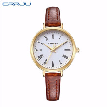 CRRJU New Arrival Luxury Brand Quartz Watch Women Small Round Dial Watches Ladies for Girl Fashion Quartz-watch Relojes Mujer