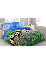 Sprei Bantal 2 Vito Disperse 180x200cm Panda - Blue
