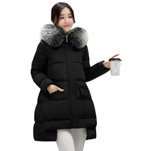Woman quilted jacket  winter new arrival Korean elegant style down cotton parka long sleeve A-silhouette and splice hi