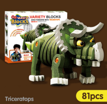 ENLIGHTEN D1611 Toy Triceratops blocks for 4 years old kid 81pcs blocks