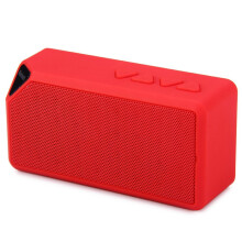 Vinmori Bluetooth Speaker Stereo Mini X3 Wireless Handsfree Loudspeaker With Mic For iPhone Samsung Mp3 PC Support FM TF Red