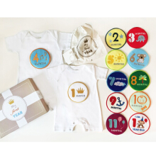 J BABY My First Year Romper Set White