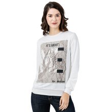 MIYOSHI JEANS MY17TS035WT Pullover Knitting Printing Long Sleeve