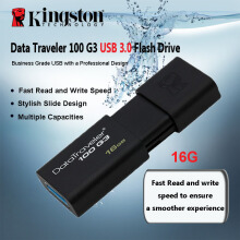 OAC-Kingston 100% original DataTraveler USB Flash Drives 8GB Pen Drive USB 3.0 high speed PenDrives 3.0 DT100G3 Black