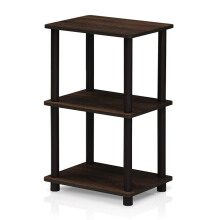 FUNIKA x FURINNO 16101WN/BR - 2 Space Shelf Walnut Coklat