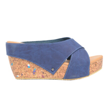 Dr. Kevin Women Wedges Sandal 27367 - Blue