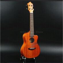 BWS 23 inches 4 strings Smaill guitar mini concert Rosewood Ukulele B-19 Orange