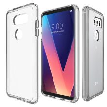 VEN LG V30 Case Hybrid Soft TPU Protective Shockproof Hard PC Frame Cover Transparent