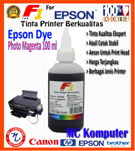 F1 Ink For Epson Dye Photo Magenta 100 ml