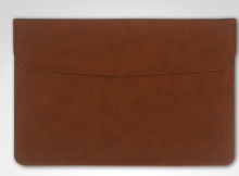 Ins I-376 Simple design artificial leather Hard Core sheer Microsoft New surface pro3/4 protective Magnetic bag-Brown