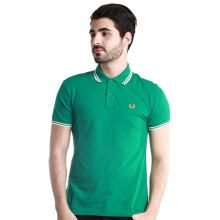 Fredperry Men- Green Polo wt White Twin Tipped