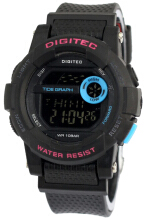 Digitec Waterproof D39H90DG2074THTMLB Digital Jam Tangan Wanita Black
