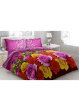 Sprei Bantal 2 Vito Disperse 180x200cm Parrots - Purple
