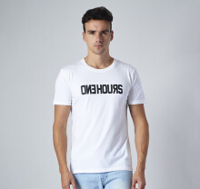 One Hours Logo T-shirt Men – White