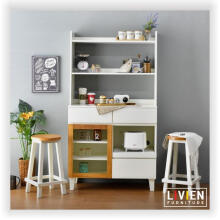 LIVIEN Furniture - Lemari Meja Dapur Set - Rak Dapur White