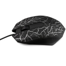 Small Special Shaped 3 Buttons USB Wired Luminous Gamer Computer Gaming Mouse