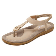 BESSKY Women Bohe Fashion Flat Large Size Casual Sandals Beach Shoes_