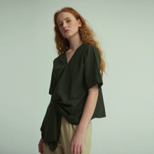 Shop At Velvet Facade Top  - Olive [All Size]