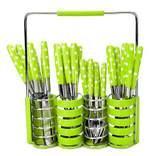 [free ongkir]RADYSA Sendok Set Polkadot 24Pcs - Hijau Green Not Specified