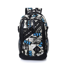 Ins I-234 Trendy outdoor travel &casual backpack-Black&White
