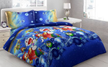 Sprei Bantal 4 Vito Disperse 180x200cm Doraemon - Blue