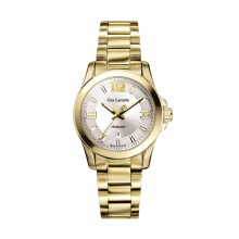 Moment Watch Guy Laroche GLM6078.05 jam tangan Wanita - stainlles steel - gold Gold