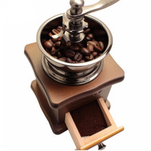 JDwonderfulhouse Retro Stainless Multifunction Manual Coffee Bean Grinder Wooden Nut Mill Hand Grinding Tool Beige One Size