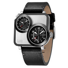 Lee Watch Dual Time Jam Tangan Lee Metropolitan Gents Kulit Hitam M116DSL1-17 Black