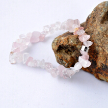 TUTU And Co. ROSE QUARTZ CHIP BRACELET